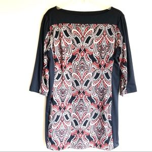 Ann Taylor Petite Large 3/4 Sleeve Shift Dress